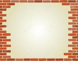 Wallpaper Border Designs Brick Wall Border Illustration Design Over A White Background