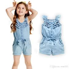 jean rompers and jumpsuits 2018 children overalls rompers onesies for baby toddler