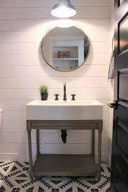 bathroom powder bathroom room transformation mirror design