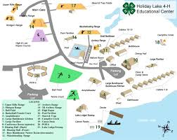 Holiday World Map by Holiday Lake 4 H Educational Center