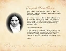 Prayer To St Therese The Little Flower - holy hill prayers