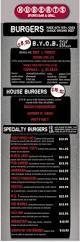 backyard burger menu musthavemenus restaurant ideas