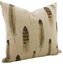 linen feather throw pillow contemporary decorative pillows