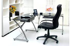 desk back to making cover l shaped glass desk small l shaped