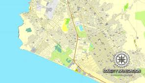 lima map lima peru 2 part map printable vector city plan map