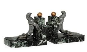 lion book ends sea lion bookends pair by maurice frecourt on artnet