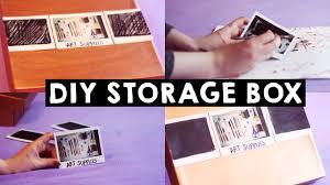 Diy Storage Box by Polaroid Storage Box Diy Youtube