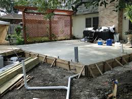 Diy Concrete Patio Diy Concrete Patio Part One Easy Patio Covers And How To Build A