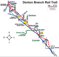 Dart Train Map Denton Branch Rail Trail Maplets