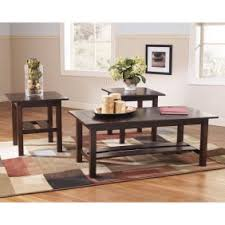 logan coffee table set signature design by ashley logan 3 piece coffee table set walmart com