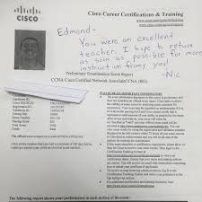 we are proud of our student who has passed comptia a exam ccna
