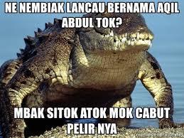 Crocodile Meme - ne nembiak lancau bernama aqil abdul tok mbak sitok atok mok cabut
