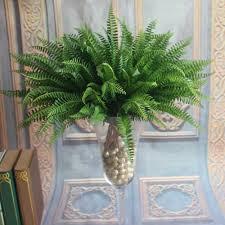 45cm 19 leaf artificial boston fern bush evergreen palm plant tree