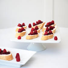 berry canapes driscoll s raspberry and cheese canapés savourous