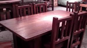 reclaimed wood table rustic barnwood dining set by viking log
