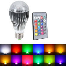 best smart lighting system supli led light bulb 10w ac 85 265v rgb color changing dimmable