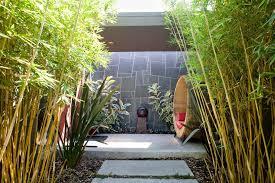 Bamboo Backyard Backyard Bamboo Landscape Contemporary With Woven Chair Deck Tiles