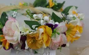 wedding flowers valley yellow flower crown of the valley wedding flower headband