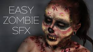 easy zombie makeup halloween 2015 youtube