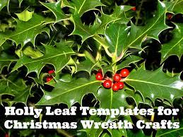 free printable wreath templates u0026 holly leaf stencils what mommy