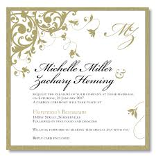 wedding invites templates budget wedding invitations template wedding flourish gold