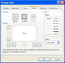 changing the color of a cell border microsoft excel