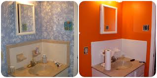 Painted Bathroom by Painting Bathroom Tile And Painted Bathroom Tile Before And After