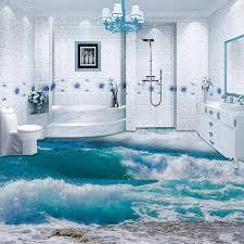 Bathroom Wallpaper Modern - aliexpress com buy pvc self adhesive waterproof 3d floor tiles