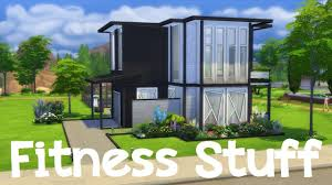 the sims 4 personal trainers house speed build youtube