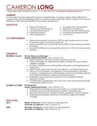 Sample Resume Of Hr Generalist by Sample Resume Hr Generalist Resume For Your Job Application