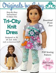 originals by gaby tri city knit doll clothes pattern 18 inch