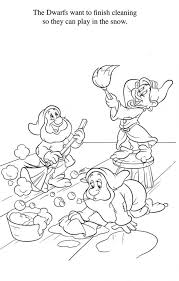 coloring pages snow white coloring book snow white coloring book