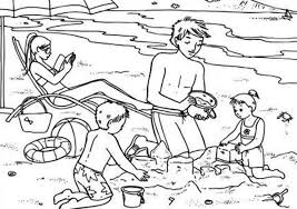 summer vacation coloring pages summertime vacation at the beach coloring page download u0026 print