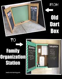 family organization from old dart box to family organization station teach me mommy