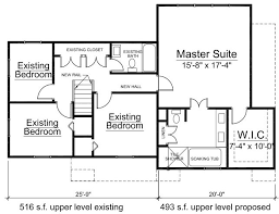addition floor plans additon to bethesda maryland home by architect builder