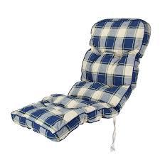 Cushions For Reclining Garden Chairs Classic Garden Recliner Cushion In Blue Check Alfresia