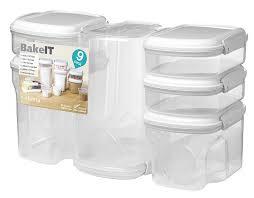 amazon com sistema bake it food storage for baking ingredients