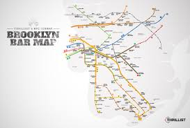New York City Zip Code Map by Best Brooklyn Bars Nyc Subway Map Thrillist