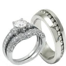 his and hers wedding rings cheap his hers 3 pieces 925 sterling silver stainless steel