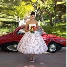custom made strapless white and red polka dot wedding dresses 2016