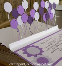 crafting with joanie how to make a pop up balloon card