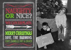 printable photo christmas card naughty or nice by leeleeandsumsum