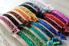 hair ties glitter elastic hair ties choose 3 colors by littlebloomshandmade