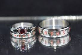 Steel Wedding Rings by Nickname Rings