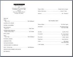 wedding programs template free wedding program templates
