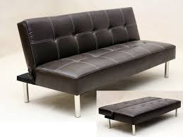 Most Comfortable Leather Sofa Faux Leather 3 Seater Sofa Bed Brown Color Tufted Design Guest