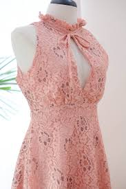 sweet marry pink lace dress lace party dress prom dress