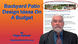 Patio Ideas For Backyard On A Budget by Backyard Patio Design Ideas On A Budget Youtube