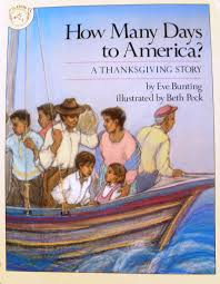 thanksgiving read aloud books immigration picture book how many days to america a thanksgiving