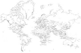 world map black and white with country names pdf black and white map with country names